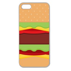 Vector Burger Time Background Apple Seamless iPhone 5 Case (Clear)
