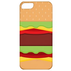 Vector Burger Time Background Apple iPhone 5 Classic Hardshell Case