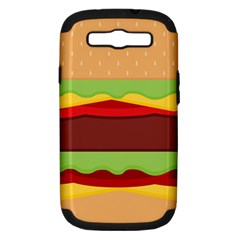 Vector Burger Time Background Samsung Galaxy S III Hardshell Case (PC+Silicone)