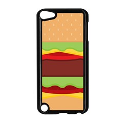 Vector Burger Time Background Apple iPod Touch 5 Case (Black)