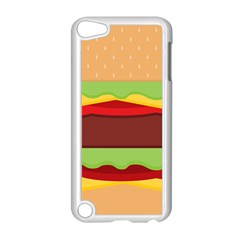 Vector Burger Time Background Apple iPod Touch 5 Case (White)