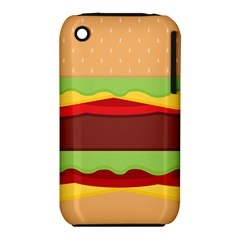 Vector Burger Time Background Iphone 3s/3gs