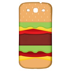 Vector Burger Time Background Samsung Galaxy S3 S III Classic Hardshell Back Case