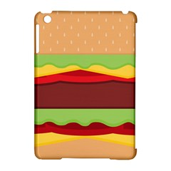 Vector Burger Time Background Apple iPad Mini Hardshell Case (Compatible with Smart Cover)