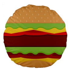 Vector Burger Time Background Large 18  Premium Round Cushions