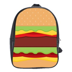 Vector Burger Time Background School Bags (xl)
