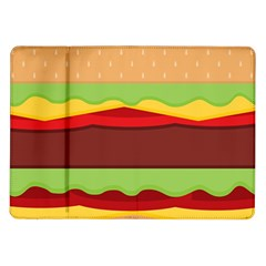 Vector Burger Time Background Samsung Galaxy Tab 10.1  P7500 Flip Case