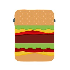 Vector Burger Time Background Apple iPad 2/3/4 Protective Soft Cases
