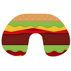 Vector Burger Time Background Travel Neck Pillows