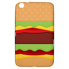 Vector Burger Time Background Samsung Galaxy Tab 3 (8 ) T3100 Hardshell Case