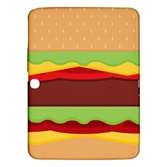 Vector Burger Time Background Samsung Galaxy Tab 3 (10.1 ) P5200 Hardshell Case