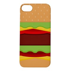 Vector Burger Time Background Apple iPhone 5S/ SE Hardshell Case