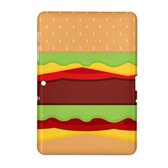 Vector Burger Time Background Samsung Galaxy Tab 2 (10 1 ) P5100 Hardshell Case