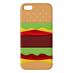 Vector Burger Time Background iPhone 5S/ SE Premium Hardshell Case