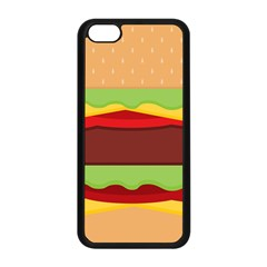 Vector Burger Time Background Apple Iphone 5c Seamless Case (black)