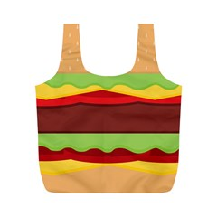 Vector Burger Time Background Full Print Recycle Bags (m)