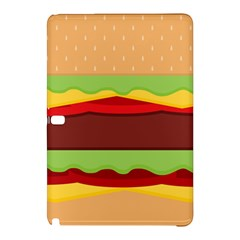 Vector Burger Time Background Samsung Galaxy Tab Pro 10.1 Hardshell Case