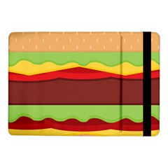 Vector Burger Time Background Samsung Galaxy Tab Pro 10.1  Flip Case
