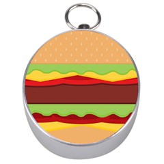 Vector Burger Time Background Silver Compasses
