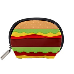 Vector Burger Time Background Accessory Pouches (Small)