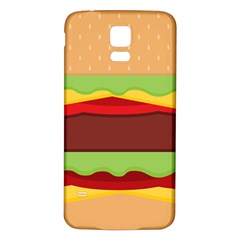 Vector Burger Time Background Samsung Galaxy S5 Back Case (White)