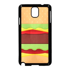 Vector Burger Time Background Samsung Galaxy Note 3 Neo Hardshell Case (Black)