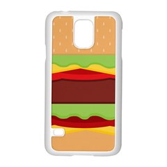 Vector Burger Time Background Samsung Galaxy S5 Case (White)