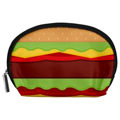 Vector Burger Time Background Accessory Pouches (Large)