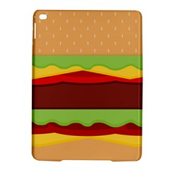 Vector Burger Time Background Ipad Air 2 Hardshell Cases