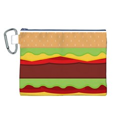 Vector Burger Time Background Canvas Cosmetic Bag (L)