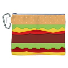 Vector Burger Time Background Canvas Cosmetic Bag (XXL)