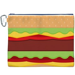 Vector Burger Time Background Canvas Cosmetic Bag (XXXL)