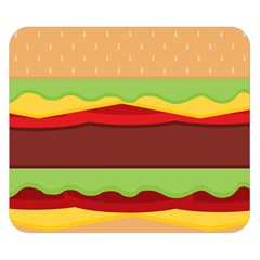Vector Burger Time Background Double Sided Flano Blanket (Small)