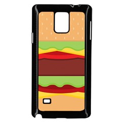 Vector Burger Time Background Samsung Galaxy Note 4 Case (Black)