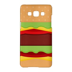Vector Burger Time Background Samsung Galaxy A5 Hardshell Case