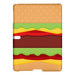 Vector Burger Time Background Samsung Galaxy Tab S (10.5 ) Hardshell Case