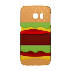 Vector Burger Time Background Galaxy S6 Edge
