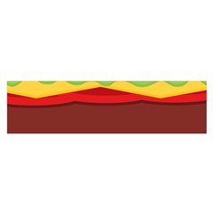Vector Burger Time Background Satin Scarf (oblong)