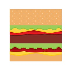 Vector Burger Time Background Small Satin Scarf (Square)