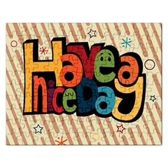 Have A Nice Happiness Happy Day Rectangular Jigsaw Puzzl