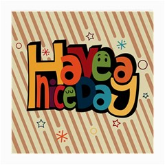 Have A Nice Happiness Happy Day Medium Glasses Cloth (2 Side)