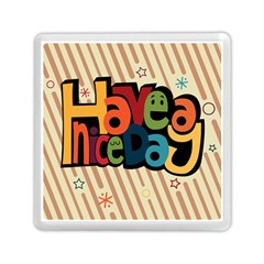 Have A Nice Happiness Happy Day Memory Card Reader (square)