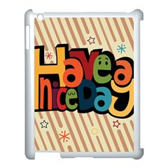 Have A Nice Happiness Happy Day Apple iPad 3/4 Case (White)