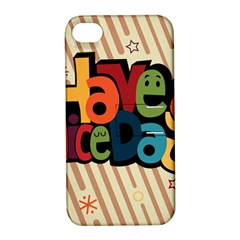 Have A Nice Happiness Happy Day Apple iPhone 4/4S Hardshell Case with Stand