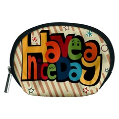 Have A Nice Happiness Happy Day Accessory Pouches (Medium)
