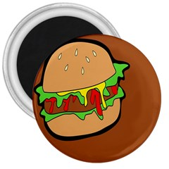Burger Double 3  Magnets