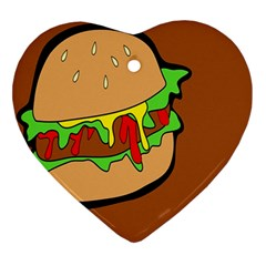 Burger Double Ornament (heart)