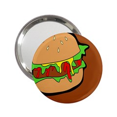 Burger Double 2 25  Handbag Mirrors