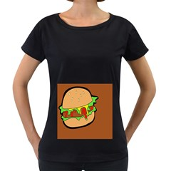 Burger Double Women s Loose-Fit T-Shirt (Black)