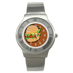 Burger Double Stainless Steel Watch